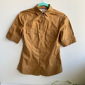 Mango buttons down Classic Shortsleeved shirts